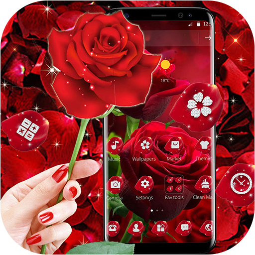 Blooming Red Rose Love Theme