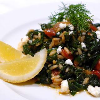 Greek Spinach and Rice recipe (Spanakorizo)