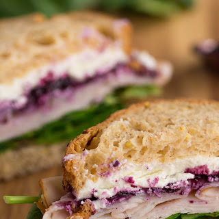 Turkey Sandwich with Goat Cheese and Berries