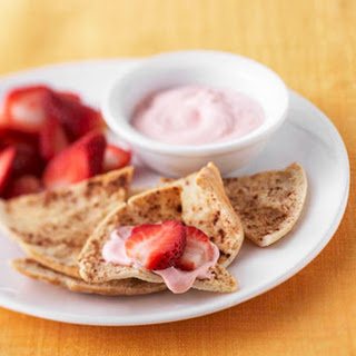 Pita Crisps with Strawberry Spread
