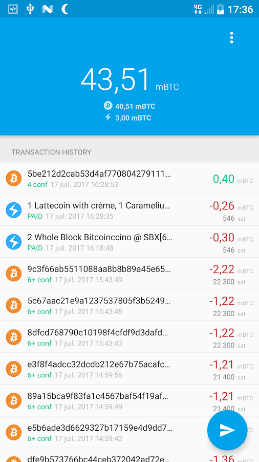 Eclair Wallet Testnet- screenshot