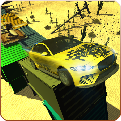 Desert Car Stunts:Extreme Mega Ramp Car Drift