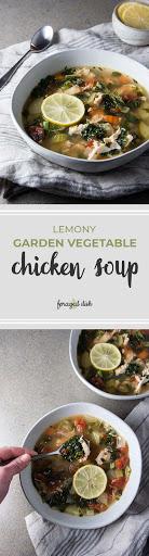 Lemony Garden Vegetable & Chicken Soup