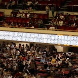 the active scoreboard during the sumo event in Tokyo, Tokyo, Japan