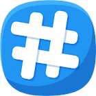 Hashtags for promotion icon