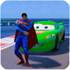 Superheroes Cars Lightning: Top Speed Racing Games
