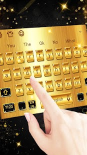 Gold Luxury Metal Keyboard Theme - náhled