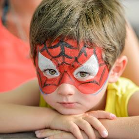 Spiderman by Denis Sinoussi - Babies & Children Child Portraits ( child, makeup, spiderman, colorfull, eyes,  )