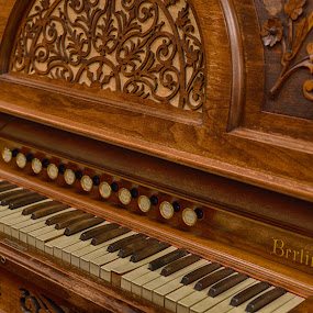Antique Organ  by Lorraine D.  Heaney - Artistic Objects Musical Instruments