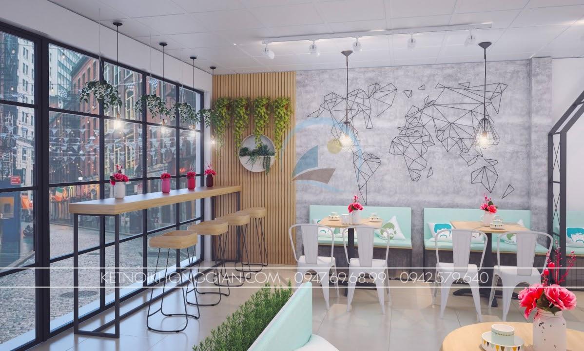 Thiết kế nội thất quán cafe nhỏ