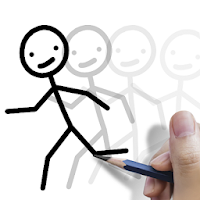 Stickman draw animation, creator  maker, drawing