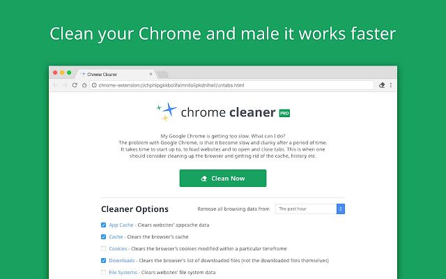 chrome cleaner pro - chrome web store