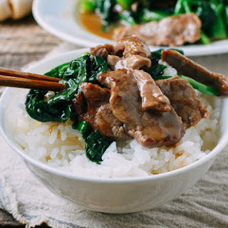 Beef with Chinese Broccoli.