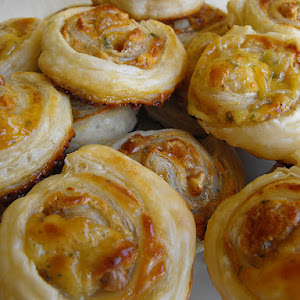 Cheese, Honey and Walnut Puffs
