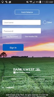 Bank of the West Mobile- screenshot thumbnail