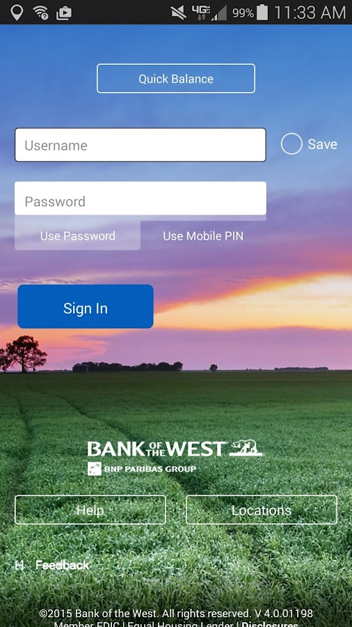 Bank of the West Mobile- screenshot