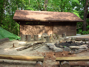 Photo: Omikse Cabin 2 and fire ring