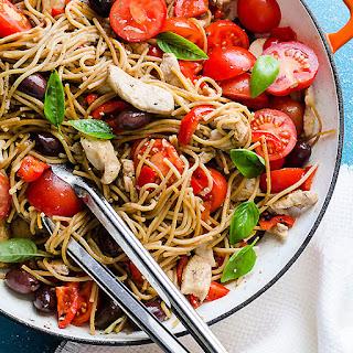 Chicken and Whole Wheat Spaghetti