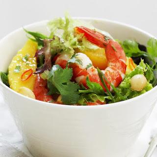 Shrimp, Mesclun and Mango Salad.