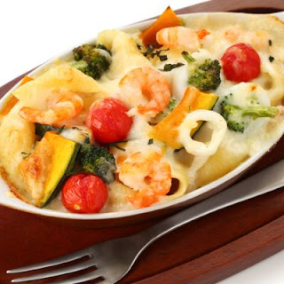 Extra Cheesy Seafood Casserole