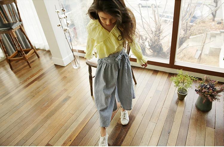 Spodnie z wysokim stanem dla dziewczynki