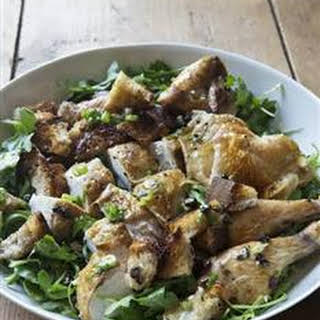 Roast Chicken with Bread & Arugula Salad.