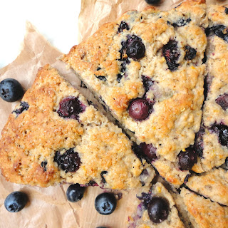 Vegan Lemon Blueberry Scones