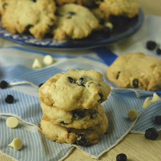Blueberry Almond White Chocolate Chip Cookies