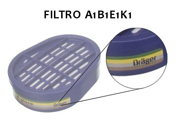 Filtros respiratorios combinados A1B1E1K1