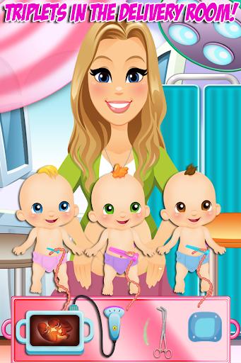 Newborn Triplets Mommy Care
