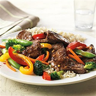 Asian Beef and Vegetable Stir-Fry.