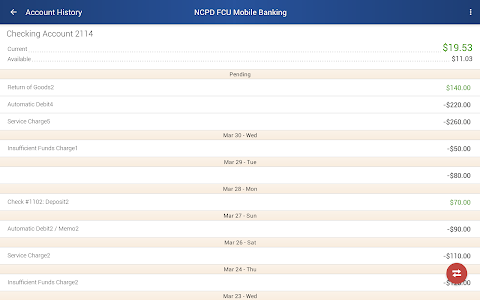 NCPD FCU Mobile Banking screenshot 6