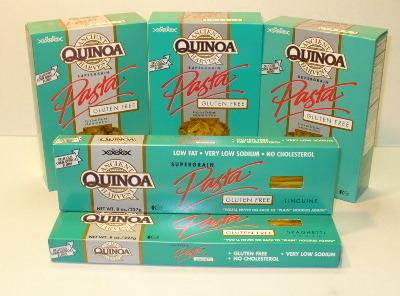 Cook quinoa pasta per package instructions, drain, set aside