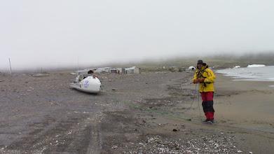 Photo: Wales, détroit de Béring Alaska, essais de tractage