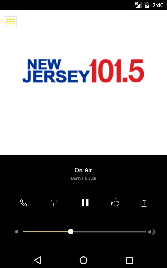 NJ 101.5- screenshot