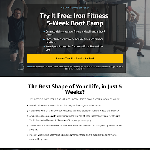Fitness Landing Page Templates From Leadpages