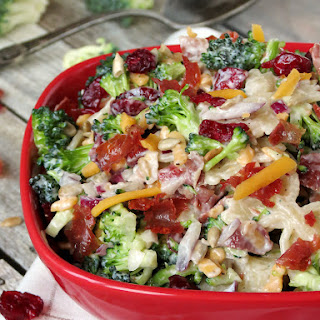 Broccoli Cranberry Pasta Salad.