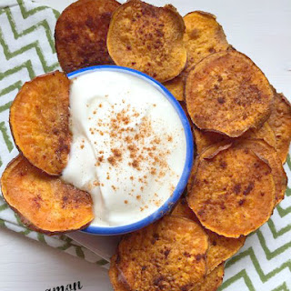 Cinnamon and Sugar Sweet Potato Chips
