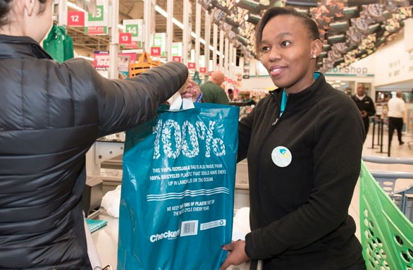 Customers will get 50 cents off their purchase every time they re-use the new plastic bag.