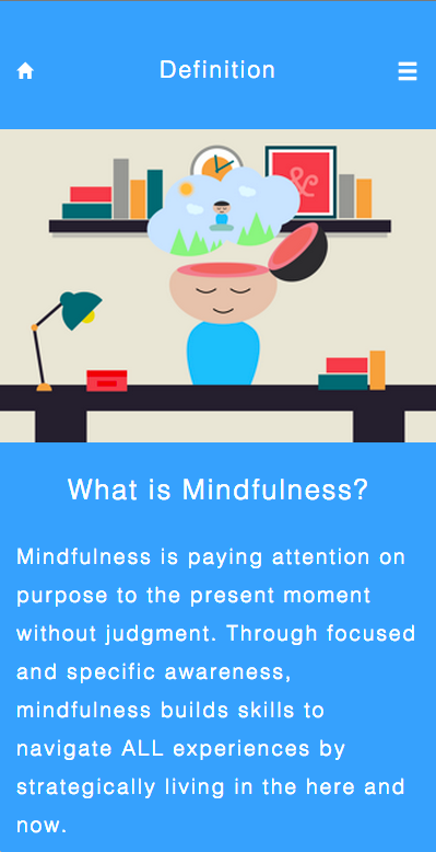 Mindful Life App- screenshot