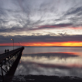 Ceduna sunset by Pamela Howard - Landscapes Sunsets & Sunrises ( calm, clouds, sky, peaceful, ceduna, sunset, serenity, peace, sea, jetty,  )