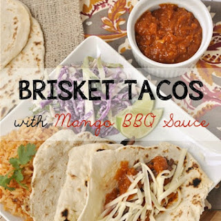 Brisket Tacos with Mango BBQ Sauce in the Crock Pot.