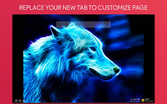 Neon Wolf Wallpaper Hd Custom New Tab Browser Extension Profile Extpose
