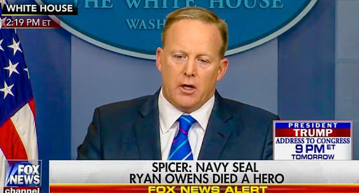 White House spokesman teaches media a lesson on fake news