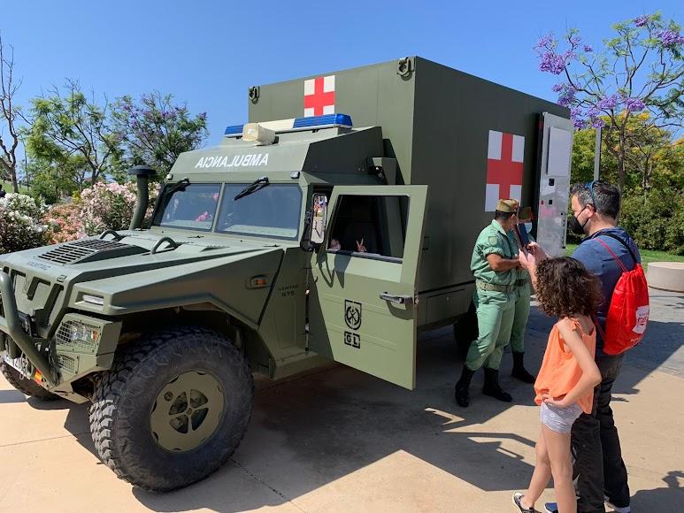 El vehículo legionario, un gran atractivo.