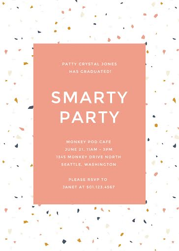 Smarty Party - Graduation Announcement Template