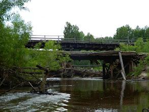 Photo: Туруханский мост. Большой старый и новый временный.