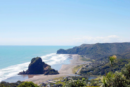 Piha-Beach-Auckland - A view of Pina Beach in Auckland, New Zealand.