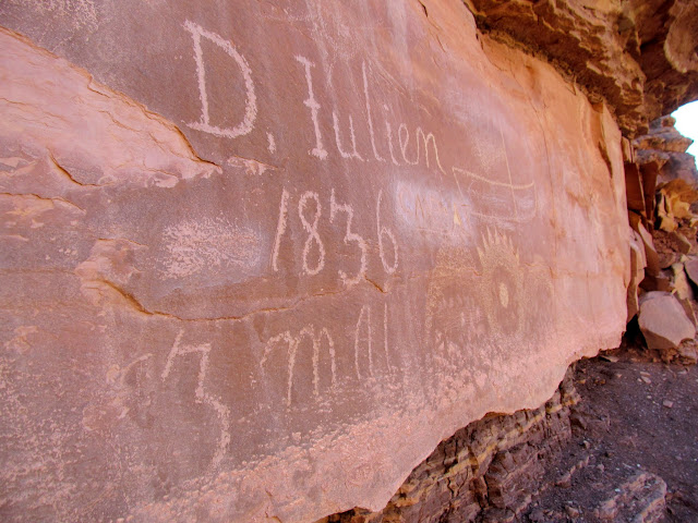 Denis Julien inscription at Hell Roaring Canyon