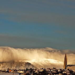 Reykjavik! by My 1st Impressions - Landscapes Travel ( iceland, nature, sly, blue, reykjavik, snow, travel )